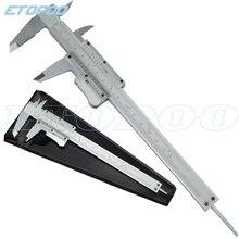 Стальной штангенциркуль с самофиксацией 6 дюймов 0-150 мм Металлические Штангенциркули Калибр микрометр Pie De Rey Paquimetro измерительные инструменты