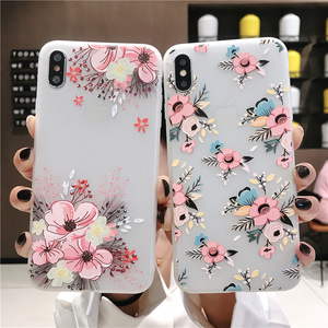 Image 3 - phone case 3D Emboss Beautiful Flower slim fit ShockAbsorbing Soft Rubber cover  soft TPU Skin Case for iphone 7 Xr X 8 xs Plus