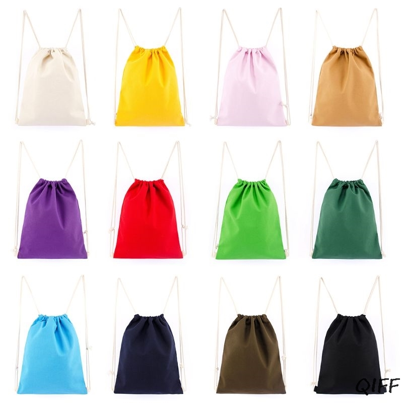 Canvas Drawstring Backpack String Gym Sack Bag Sports Cinch Sack For Men Women Kid School Travel