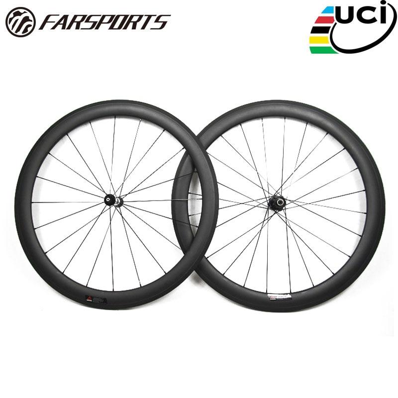 Farsports FSC50-TM-23 DT350 hub 50 23mm carbon tubular wheels 700c, 1345g 50mm carbon fiber road 3K matte wheels