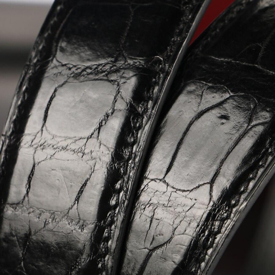 [BATOORAP] высококачественный мужской ремень из крокодиловой кожи ремни роскошные брендовые дизайнерские ремни черный/коричневый - 4