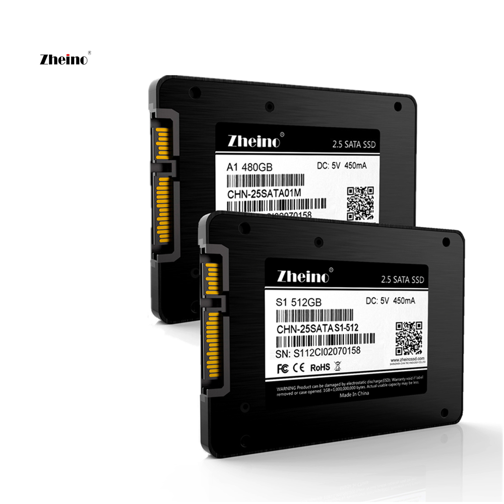 2.5 Inch SATA3 480gb 512gb SSD Hard Dirve Zheino High speed 2D MLC NAND Flash A1-480GB S1-512GB Internal Solid State Disk Drive zheino 3d sata3 512gb ssd hard dirve high speed 3d tlc nand flash internal solid state disk drive for pc laptop macbook server