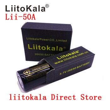100 ٪ الأصلي LiitoKala Lii-50A 26650 5000mAh بطارية قابلة للشحن 3.7v بطاريات ليثيوم أيون