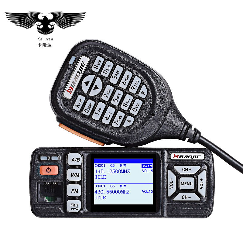 BJ-318 mini voiture radio station mobile talkie walkie 10 km jambon vhf uhf dual band portable PTT talkie-walkie pour voitures interphone