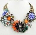 2014 de La Moda Al Por Mayor Collar de Cadena Gargantilla Declaración Collar y Colgante de Moda Collar de la Flor de Las Mujeres