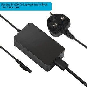 Image 3 - 15v 2.58a 44w adaptador de alimentação para microsoft surface portátil pro 3 pro 4 pro 5 2017 livro carregador ac com dc 5v 1a usb carregador