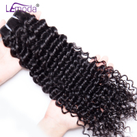 LeModa Hair Brazilian Deep Wave Hair 1pc 3pcs or 4 Bundles 100% Human Hair Extensions Non Remy Hair Double Machine Weft Bundles