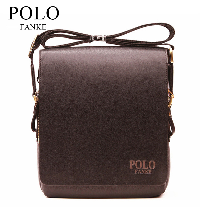 FANKE POLO Fashion Men Bags Waterproof PU Leather Messenger Bag Business Briefcase Crossbody Bags Male Shoulder Bag F4361-N men pu leather messenger crossbody bag briefcase shoulder bag pure color simple business hand bag free shipping