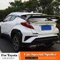 Подходит для Toyota CHR C-HR 2018 2019 черный спойлер Высокое качество ABS пластик Неокрашенный задний спойлер багажник крыло для губ Стайлинг автомоби...