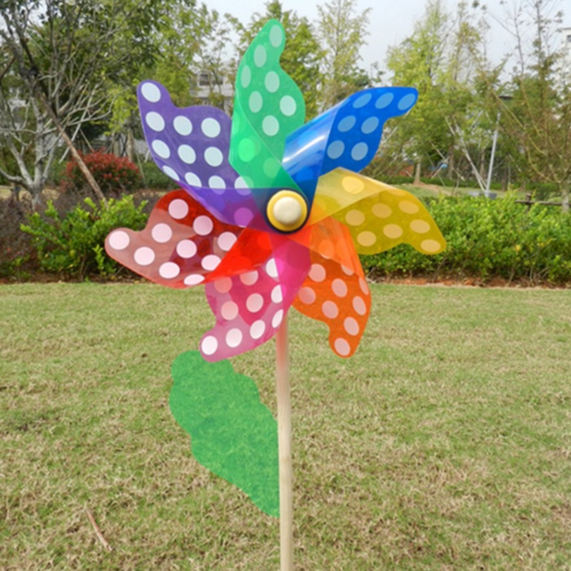 Us 1 19 15 Off Colorful Pinwheel Wind Spinner Windmill Home Garden Yard Decor Kids Toys 18cm In From Hobbies On