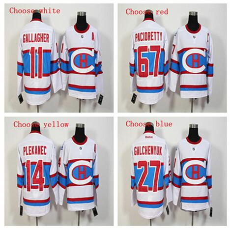 f86a864cd ... Mens Canadiens 11 Brendan Gallagher67 Max Pacioretty27 Alex Galchenyuk  high Quality Embroidered Hockey Jerseys Free shipping ...