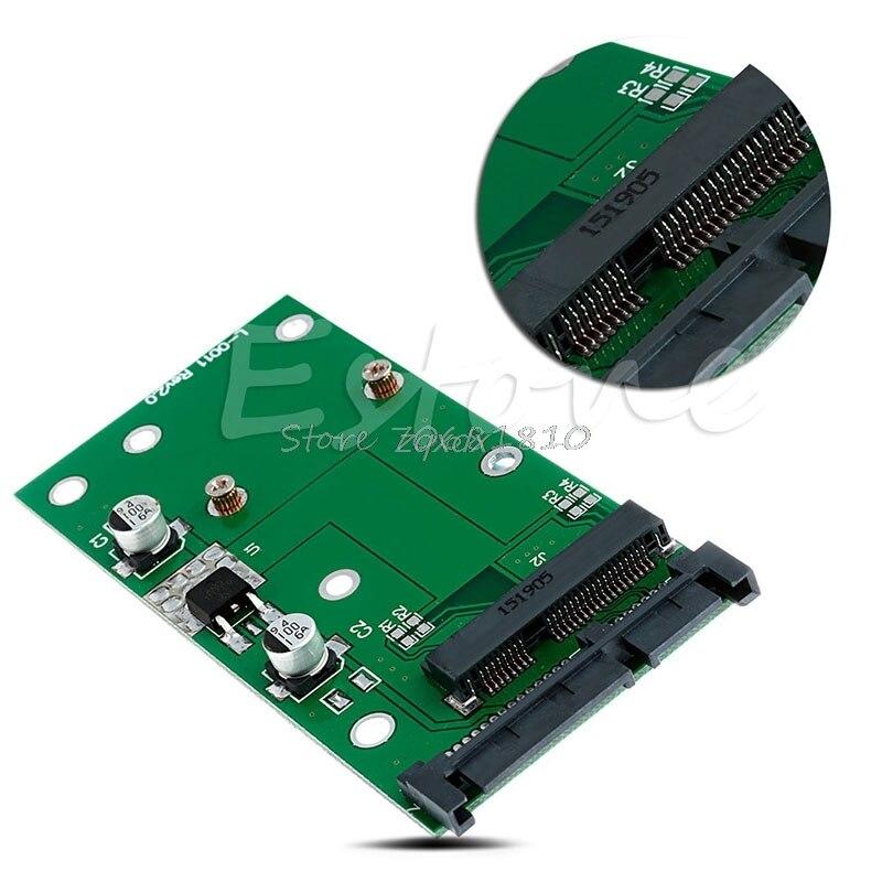 mSATA SSD to 2.5'' SATA 6.0 Gps Adapter Converter Card Module Board Pad Pcie New Z09 Drop ship цена