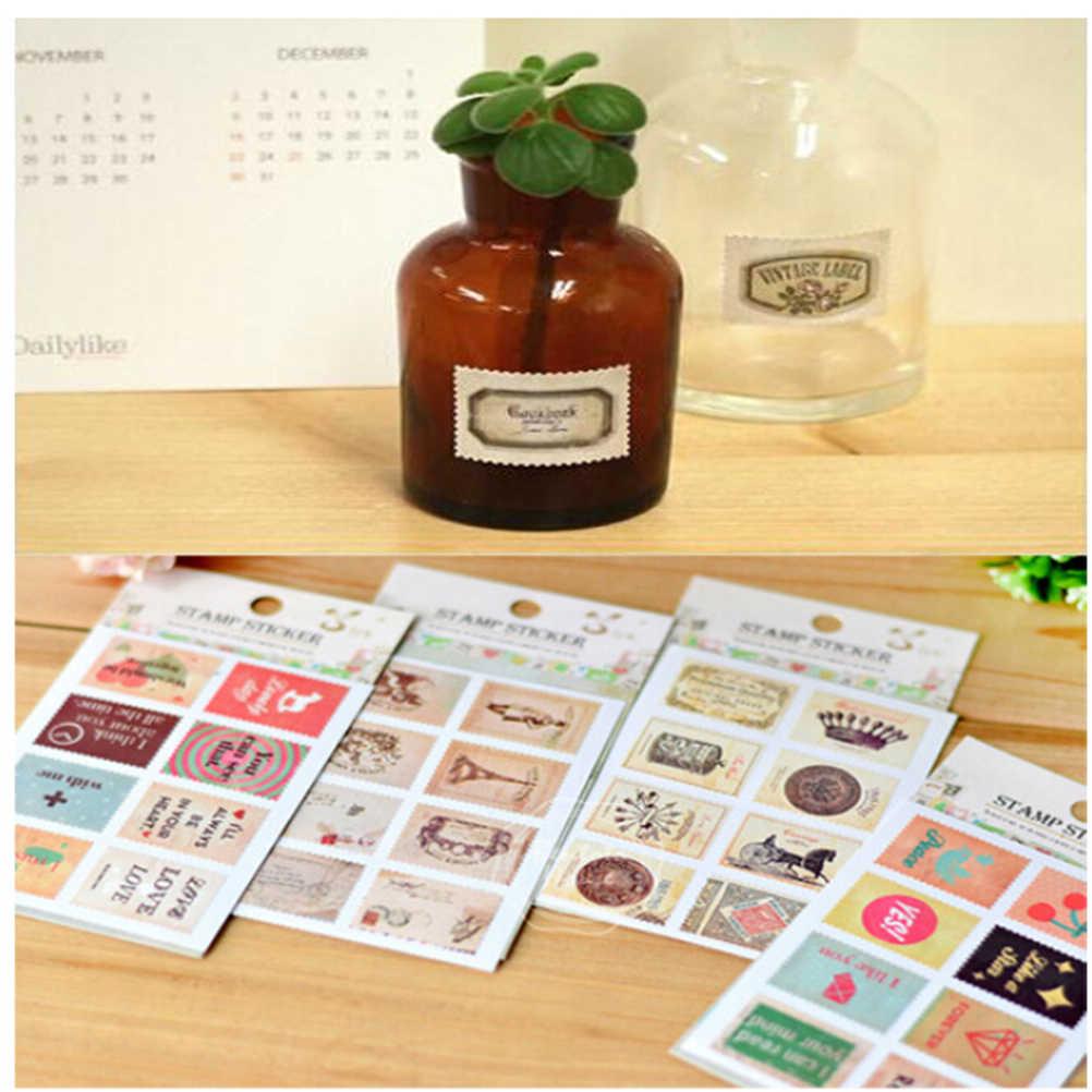 Casuale di Stile FAI DA TE Vintage Scrapbook di Carta Nota Retrò Torre Fiore Francobolli Adesivi Bella Scrapbooking Sticker