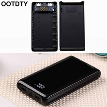 (Pil) çift USB çıkışı 6x18650 pil DIY güç bankası kutu tutucu kılıfı için Tablet telefon PC