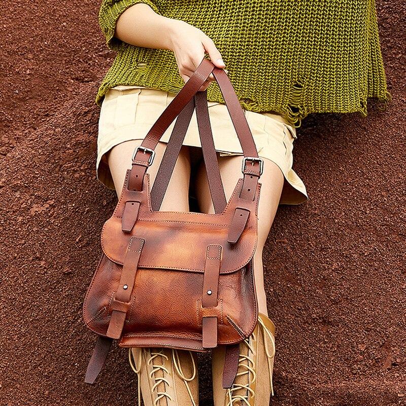 Vintage Hasp Women Crossbody Bag Handmade Leather Female Shoulder Bag Original Design Girl Daily Fashion Bag 2019 New Arrivals
