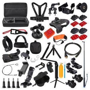 Комплект аксессуаров для экшн-камеры для Gopro Hero 7 6 5 4 3 Session Set для Xiaomi Yi 4K Sjcam Sj7 Eken H9r Sports Cam