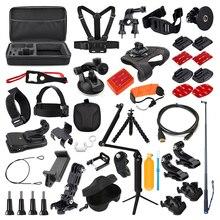 アクションカメラアクセサリー移動プロヒーロー 3 7 6 5 4 3 セッションセットxiaomi李 4 18k sjcam sj7 eken H9rスポーツカム