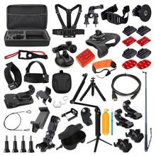 Acessórios para câmera de ação, kit para gopro hero 7 6 5 4 3 conjunto de sessão para xiaomi yi 4k sjcam sj7 eken h9r câmera esportiva