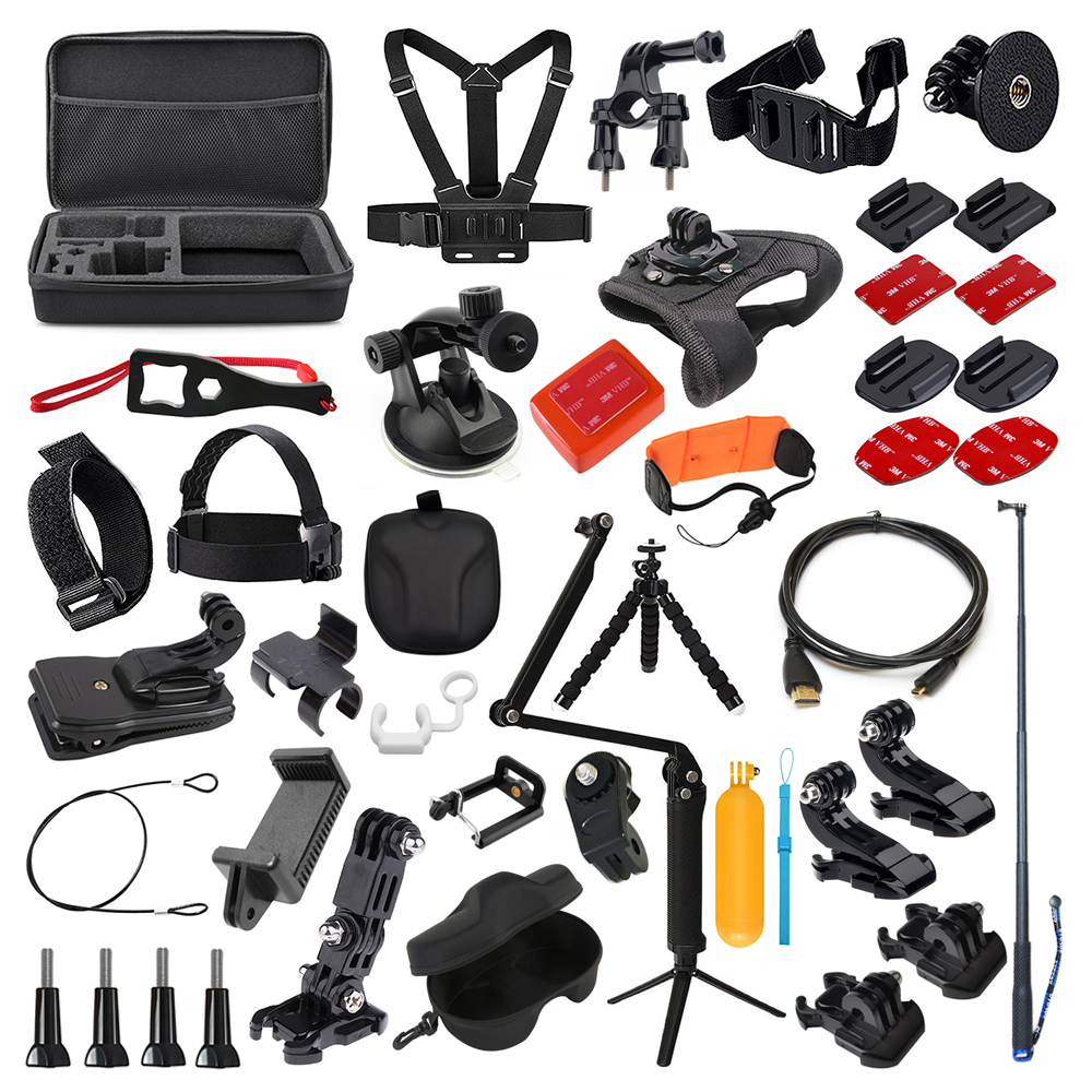 Action Camera Accessories Kit for Gopro Hero 7 6 5 4 3 Session Set for Xiaomi Yi 4K Sjcam Sj7 Eken H9r Sports Cam