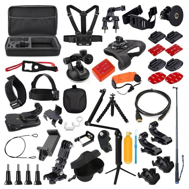 Комплект аксессуаров для экшн камеры Gopro Hero 7 6 5 4 3 сеанс набор для Xiaomi Yi 4K Sjcam Sj7 Eken H9r Спортивная камера