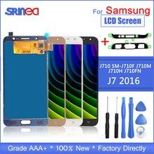 สำหรับ Samsung Galaxy J7 2016 จอแสดงผล J710 จอแสดงผล LCD และระบบสัมผัสหน้าจอ Digitizer Assembly SM J710f ปรับกาวเครื่องมือ