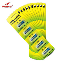 50pcs/10pack Wama Alkaline 12V 23A Primary Dry Batteries 21/23 23GA A23 A-23 RV08 55mAh Alarm Car Remote Toys Battery Free Ship