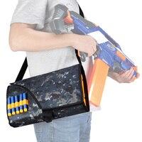 Children Military Tactical Backpack Gun Accessories Tactical Messenger Bag Multifunction Bullet Bag For Kids Gun Toy