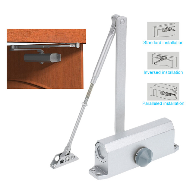 Durable And Stable 65 85KG Door Closer Automatic Hydraulic Arm Door Closer  Mechanical Speed Control