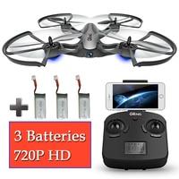 3 baterias zangão fpv quadcopter wi-fi com câmera brinquedos de controle remoto quadrocopter aircraft dron helicóptero rc quad helicóptero