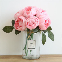Damascus Knight Round rose peony bouquet artificial flower fake wedding decoration hand home