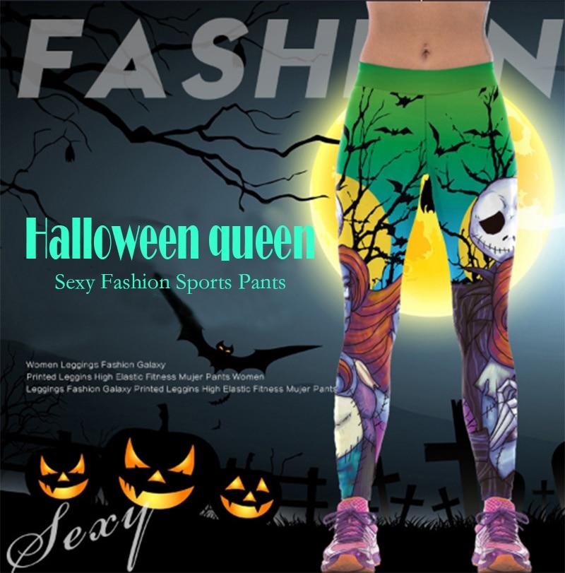 Autumn Jack Skellington Leggings Women Halloween The Nightmare Before Christmas Legging Party Cosplay Printed LegginsGym Sports