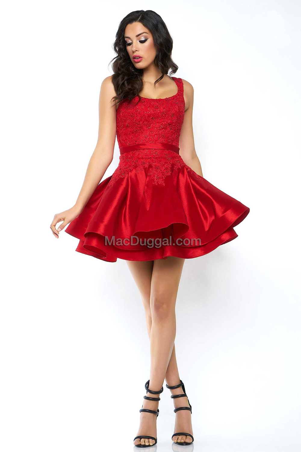 Pristine Short Red Cocktail Party Dresses Straps Puffy Mini Prom Dressestiered Skirt Lace Applique Beadings Homecoming Prom Dressesfrom Short Red Cocktail Party Dresses Straps Puffy Mini Prom wedding dress Short Red Dress