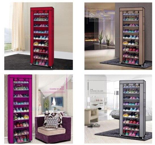 Shoe Rack Shelf Storage Closet Organizer Cabinet Portable Warehouse Layer Grid