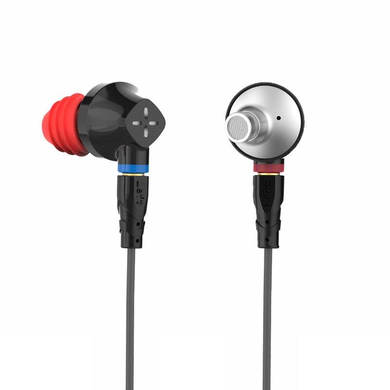 SENFER DT6 1BA + 1DD híbrido en la oreja los auriculares HIFI DJ deporte auricular auriculares con micrófono desmontable MMCX Cable