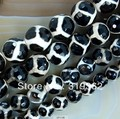 "15.5"" Faceted Black Tibetan Mystical Old Agate Spherical Beads 8 10 12mm Pick Siz Free Shipping(F00051)"