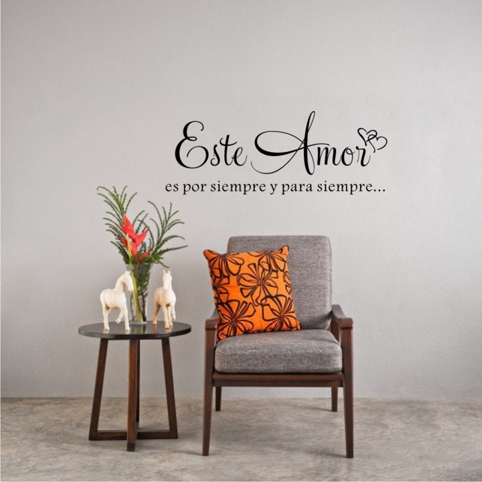 This Love is Forever Spanish Quote Wall Decal Personalized Vinyl Wall Art Sticker Home Decor Living Room Decoration Poster W639