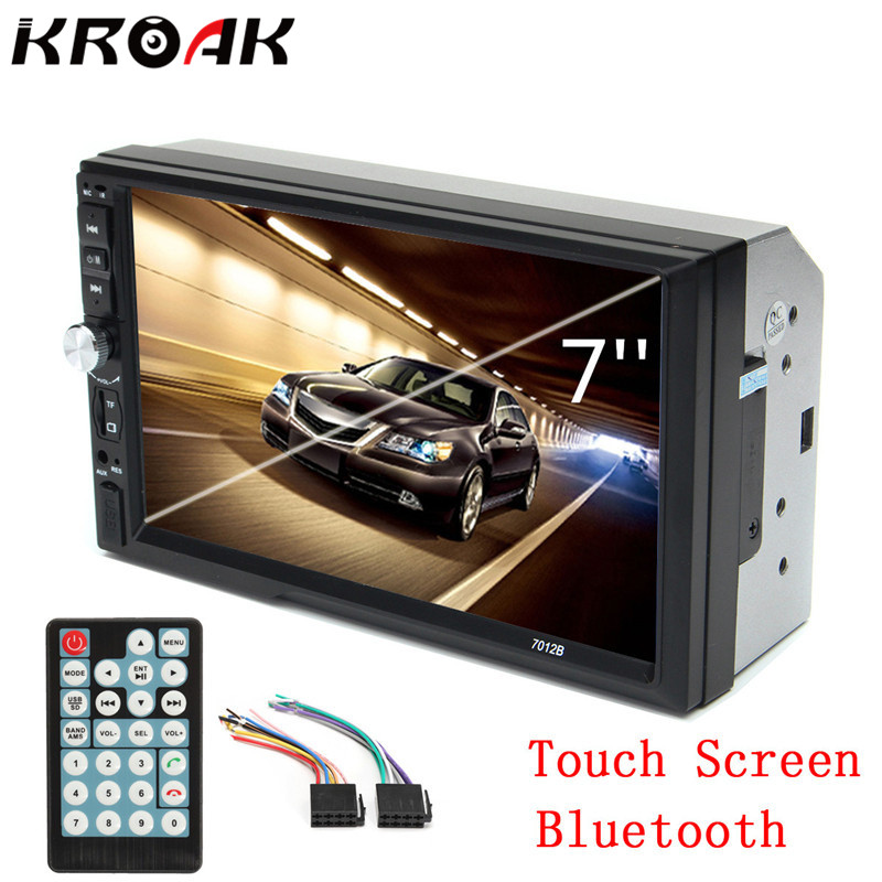 2 Din 7 TFT 1080P HD Touch Screen Bluetooth Car MP5 Video Player 12V Car Audio Radio FM USB SD AUX IN Support Rear View Camera стоимость