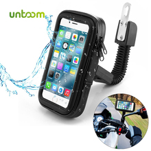 Untoom עמיד למים אופנוע אופנוע טלפון מחזיק טלפון סלולרי הר Bracket עבור סקוטר Rearview מירור Stand עבור iPhone Xiaomi