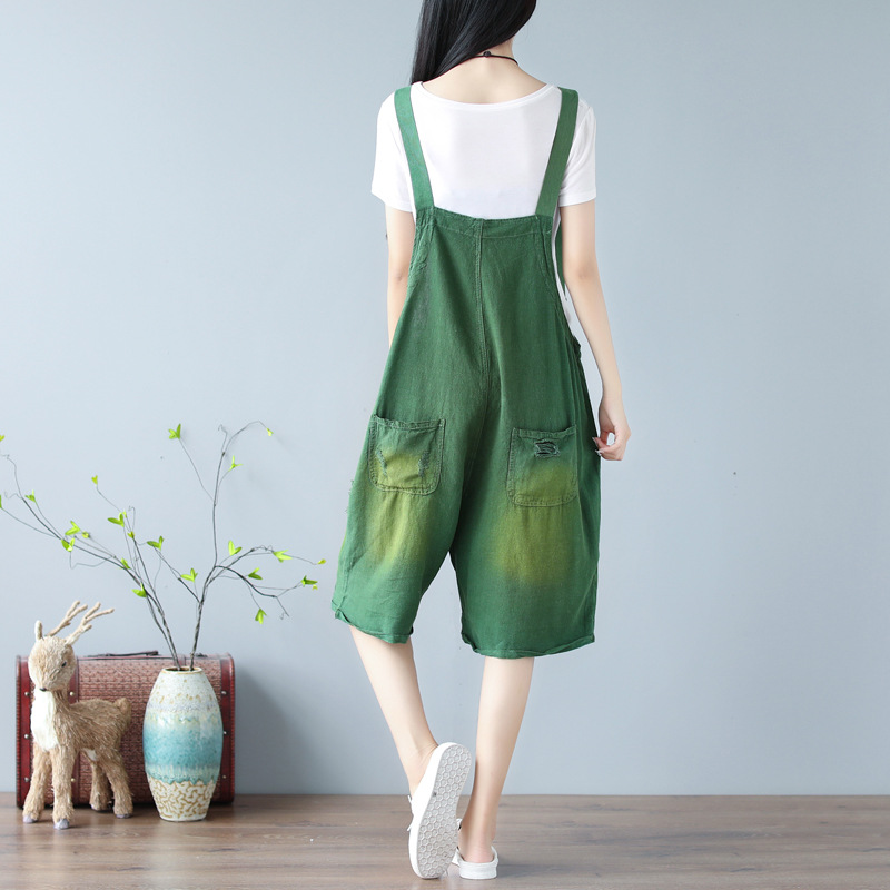 Rompers Plus Womens Leotard Size Overalls Summer Cotton 2 Line 1 Spring 2019 Women Jumpsuit Playsuit Fashion Casual For Korean Holes YIxBfqtq