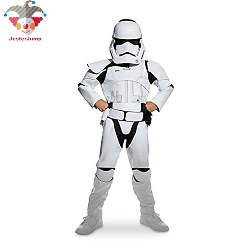Neue Kind Junge Deluxe Star Wars Die Kraft Weckt Storm Troopers Cosplay Phantasie Kleid Kinder Halloween Karneval Party Kostüm