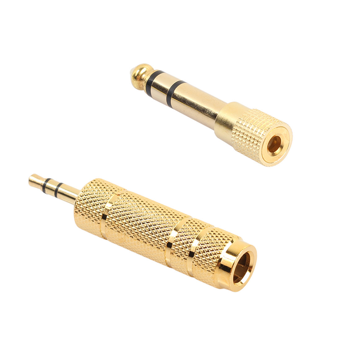 centechia 4pcs Gold 6 5mm 1 4 quot Male to 3 5mm Female Audio Adapter 6 35 mm Jack Stereo Converter Cable For Microphone