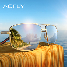 AOFLY Marca Diseño clásico de los hombres Gafas de sol de conducción de los hombres Gafas de sol polarizadas hombre Metal Marco de Gafas UV400 AF8182