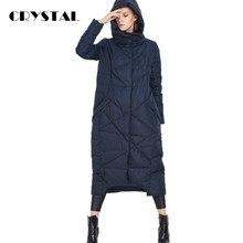 European Fashion 2016 New Winter Jacket Women X-Long Hooded Down Coat 90% White duck Parka Warm Outwear Coat Plus Size UV1289