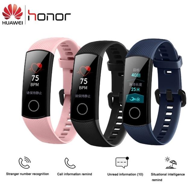 """מקורי Huawei הכבוד להקת 4 Amoled 0.95 """"צבע מסך מגע חכם להקת קצב לב שינה הצמד צג חכם שעון צמיד"""