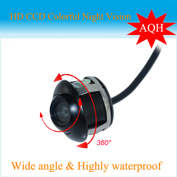 Nova Promoção CCD 360 Frente Car/Side/Rear View Camera Reversa Universal Para todos os Modelos de Carro Frete Grátis