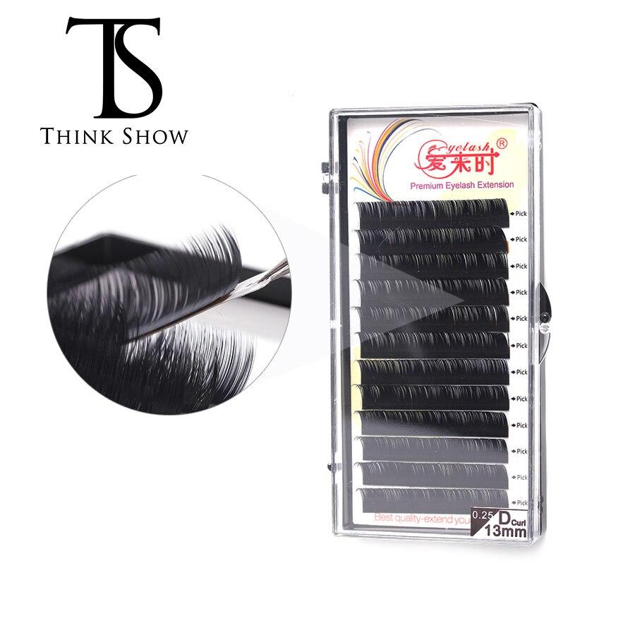 12 Rows/tray Eyelash Extension Natural Individual Lashes Artificial Eyelashes Soft Eye Lashes Thick Volume Lashes Makeup Tools