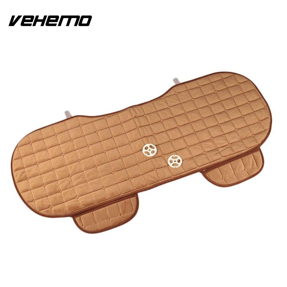 Vehemo Car Back Seat Cushion Cover Rear Row Grid Seat Protector Mat Breathable Comfortable Covers Car Styling Seat Cover