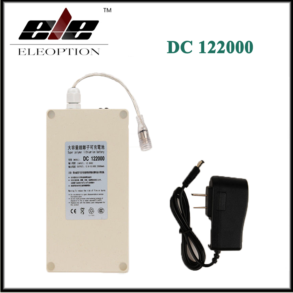 Eleoption DC122000 Waterproof 12V 20000mah Super Powerful Rechargeable Portable Li-ion Battery For Camera 12v 1800mah rechargeable portable emergency power li ion battery for cctv devices