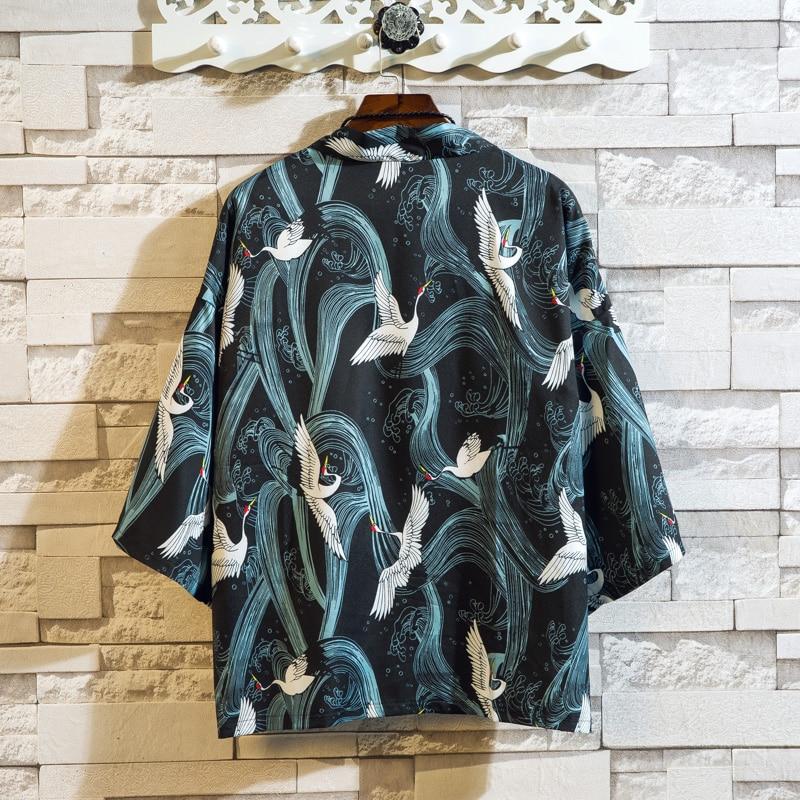 2019 Summer Fashion Men's Shirt Loose Short-sleeved Floral Shirt Men's Fashion Men's Casual Flower Shirt Size S-XXXL