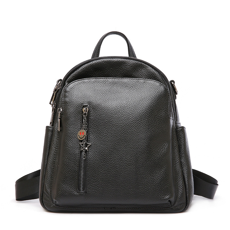 2018 Summer New Calf Leather Backpack Fashion Tracel Backpacks Ladies' Large Capacity Multi-function Women Bags цена и фото